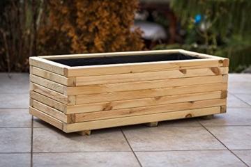 blumentopf blumenkasten pflanzkasten auf holz hit xl 100x40x30 bio balkongarten blog. Black Bedroom Furniture Sets. Home Design Ideas