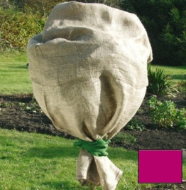 Jute Schutzsack Jutesack Sack Winterschutz Frostschutz für Pflanzen ca. 60 x 80 cm rot - 1