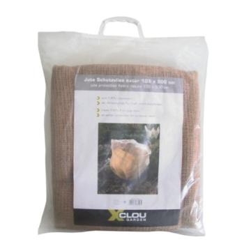 Xclou Jute Schutzvlies, Jutedecke schützt Topf- & Kübelpflanzen, Frostschutz natur, Pflanzenschutz aus 100% Jutefasern, ca. 105 x 500 cm - 1